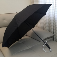 High Quality Brand Creative Warrior Samurai Long Western Sword Handle Rainy Sunny Umbrella Men Women Windproof