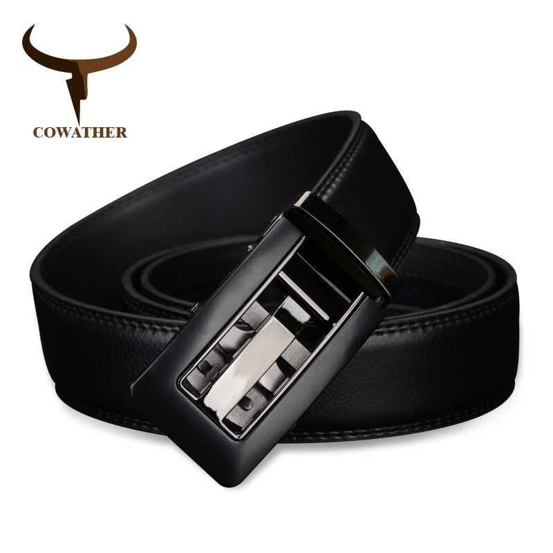 COWATHER 2017 Automatic Buckle cow Genuine Leather s