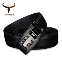 Elegant Letter Design Automatic Buckle Popular Genuine Leather Belts For Men Hot Fashion Brand Cowather Men