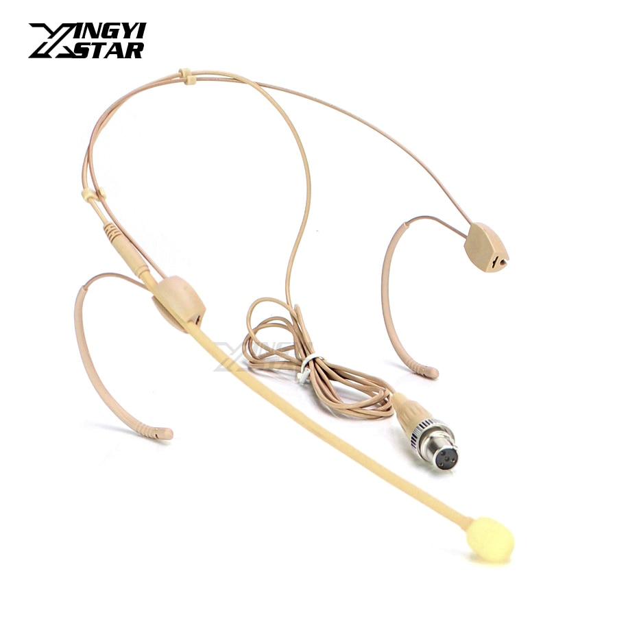 Invisible Mini XLR 4 Broches De Verrouillage Oreillette casque Microphone Serre-Tête Micro Pour MIPRO Sans Fil Émetteur de Poche ACT-2402 ACT-646