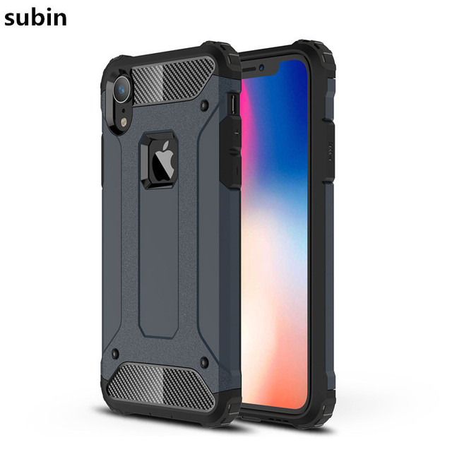 sale retailer 4a02b cf60b US $3.03 11% OFF|Aliexpress.com : Buy For iPhone XR case cover funda New  Luxury Shockproof bumper protect For Apple iPhone XR smartphone case back  ...