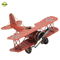 Vintage Style Decoration Metal Airplane Crafts Home Decor Retro Nostalgic Aircraf Miniature For Kids Creative Home