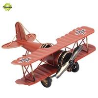 Vintage Style Decoration Metal Airplane Crafts Home Decor Retro Nostalgic Aircraf Miniature For Kids Creative Home