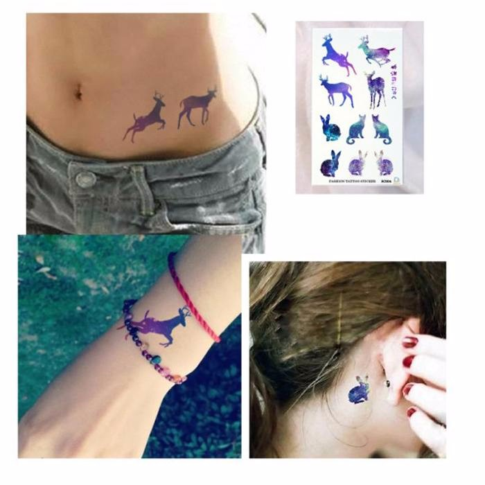 8fe41cc38 105*60mm Waterproof body art Animals ElK Rabbit tattoo Sticker temporary  tattoo small Christmas Gift -in Temporary Tattoos from Beauty & Health on  ...