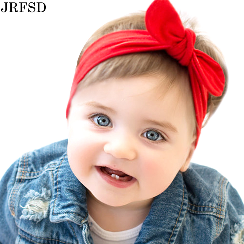 JRFSD Solid color knotting Headband Cotton material Hair Accessories Suitable for 0-7 year old kid Hair bands KT002 metting joura vintage bohemian green mixed color flower satin cross ethnic fabric elastic turban headband hair accessories