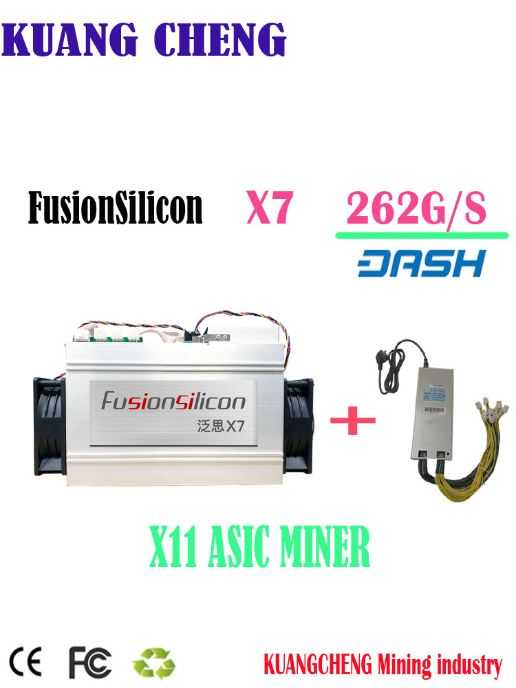 Newest DASH Miner FusionSilicon X7 Miner 262GH/S 1420W X11 Algorithm With Original Psu For MUE CANN Better Than Antminer D5 D3