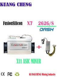 Più nuovo DASH minatore FusionSilicon X7 Minatore 262GH/S 1420 W X11 algoritmo con Originale psu per MUE CANN Migliore di Antminer D5 D3