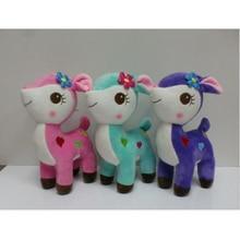 20cm 1PC Cute Plush Giraffe Toys Soft Colorful Animal Dear Doll Kawaii Spot Toy for Baby Kids Children Girls Birthday Gift m265