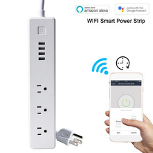 ФОТО 2018 new smart sub-control us plug wifi smart power strip alexa voice control high temperature over-current protection  socket