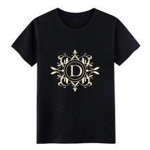 monogram letter d names emblem gold t shirt men Customized 100% cotton S-3xl 79ece1c37c6e