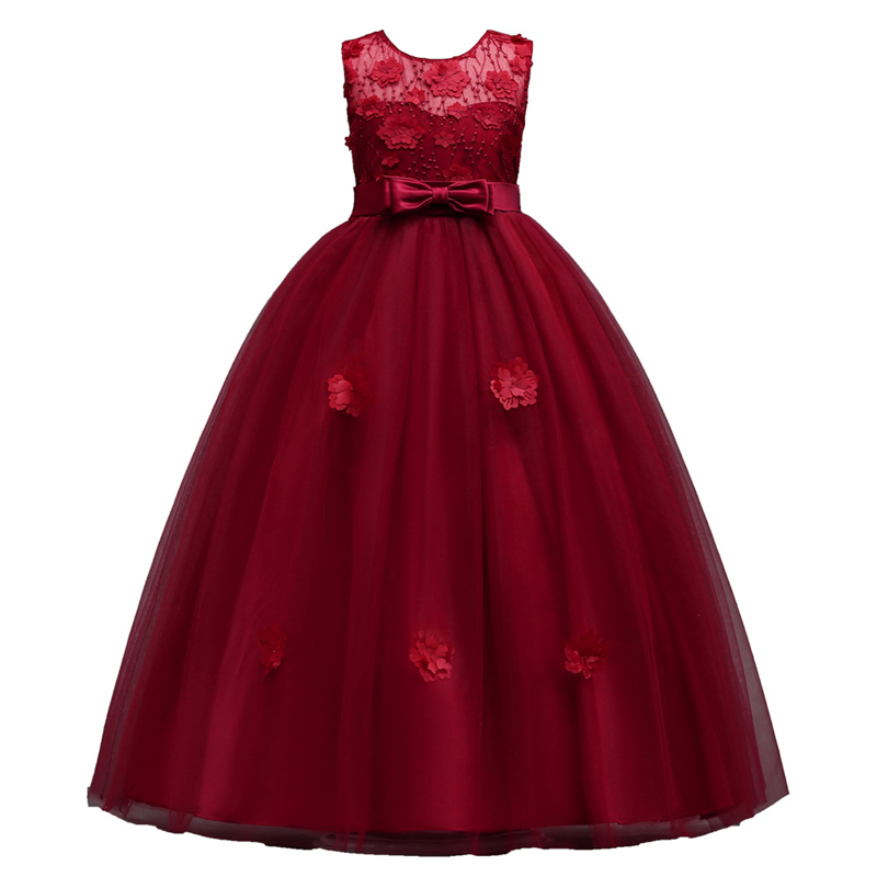 Baby Princess Clothing For Girls Floral Lace Dresses Children Kids Elegant Dress For Party And Wedding Sleeveless Girls Dress посудомоечная машина встраиваемая siemens sn578s00tr