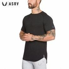 ASRV Homens T-shirt de algodão de manga Curta camiseta Verão Nova Academias  de fitness 9ce5b486774