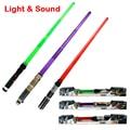33 Polegadas Dobrável de Star Wars sabre de luz com Som e Luz clássico Star Wars Jedi espada laser de brinquedo para o miúdo escalável armas presente