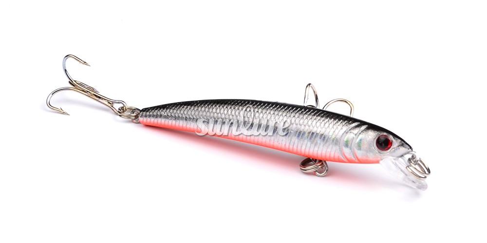 2016 sunlure премьер про Срия рыболовные приманки 2 крюка минноу прикорм 6 шт. / лот рыболовные приманки 7,5 см/5.6 г рыболовные снасти