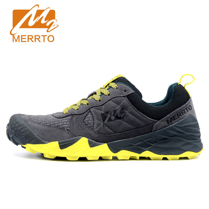 MERRTO Man Hiking Shoes Men Suede Athletic Trekking Boots Sports Climbing Shoe Outdoor Walking Sneakers zapatos outdoor hombre merrto men s outdoor cowhide hiking shoe multi fundtion waterproof anti skid walking sneakers wear resistance sport camping shoe