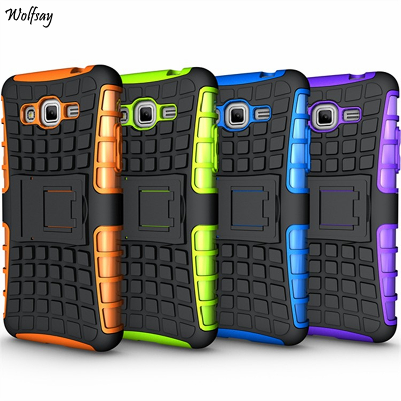 Cover For Samsung Galaxy Grand Prime Case G530 Rubber & PC Fundas Case For Samsung Grand Prime Phone Coque With Holder Stand ]