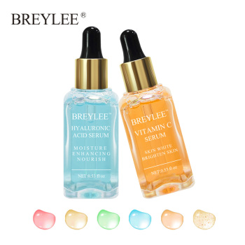 BREYLEE 2pcs HA Hyaluronic Acid Serum Vitamin C Moisturizing Whitening Serum Anti aging 24K Anti Wrinkle