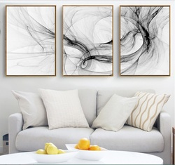 Abstract Art 3 Pieces Canvas Paintings Modular Pictures Wall Art Canvas for Living Room Decoration No Framed