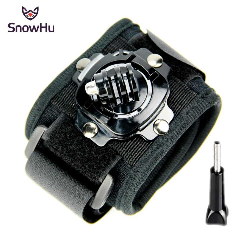 SnowHu for Gopro accessorie 360-degree Rotation Wrist Mount Hand Strap for xiaomi yi 4k camera go pro hero 7 6 5 4  sjcam GP128