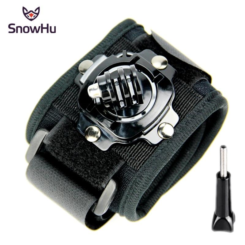 SnowHu for Gopro accessorie 360-degree Rotation Wrist Mount Hand Strap xiaomi yi 4k camera go pro hero 5 4 3+2 1 sjcam GP128