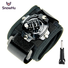 SnowHu for Gopro accessorie 360-degree Rotation Wrist Mount Hand Strap xiaomi yi 4k camera go pro hero 5 4 3+2 1 sjcam GP128