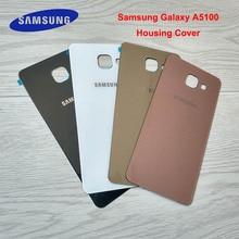 100% Orijinal Samsung Galaxy A510 A510F Geri Pil Kutusu 3D Cam Konut Kapak Samsung A5 2016 Arka Kapı yedek