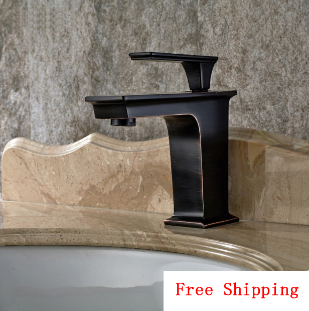 Antique ORB wash basin faucet cold hot, Oil Rubbed Bronze basin faucet mixer water tap, Copper bathroom sink basin faucet black copper toilet wash basin faucet hot and cold bathroom sink basin faucet mixer water tap single hole basin faucet chrome plated