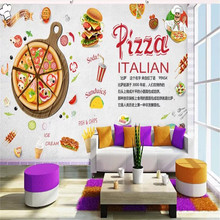 Custom wallpaper murals high-end Western restaurant atmosphere pizza -