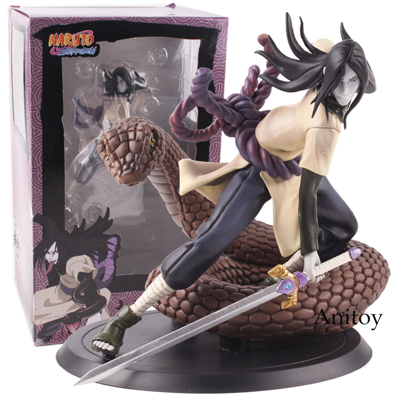 Naruto Shippuden Figure Orochimaru PVC Action Figure Collectible Model Toy 13cm KT4823 hot anime naruto 4th hokage namikaze 6 action figure collectible pvc model gift toy