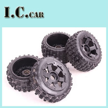 Baja Knobby  Wheels &Tires for 1/5 HPI Baja 5B Parts Rovan KM