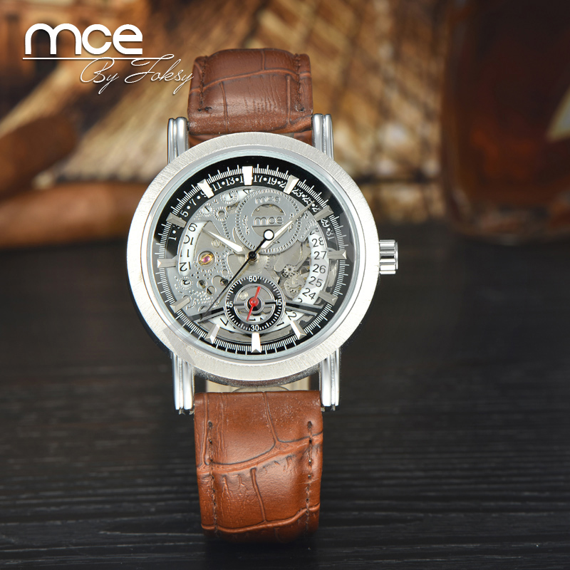 mce branded 2016 New Stainless Steel Watch Men Automatic Mechanical Watch with original gift box 218
