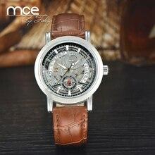 Mce marque 2016 Nouvelle Montre En Acier Inoxydable Hommes, Automatique Montre Mécanique, avec la boîte de cadeau original 218