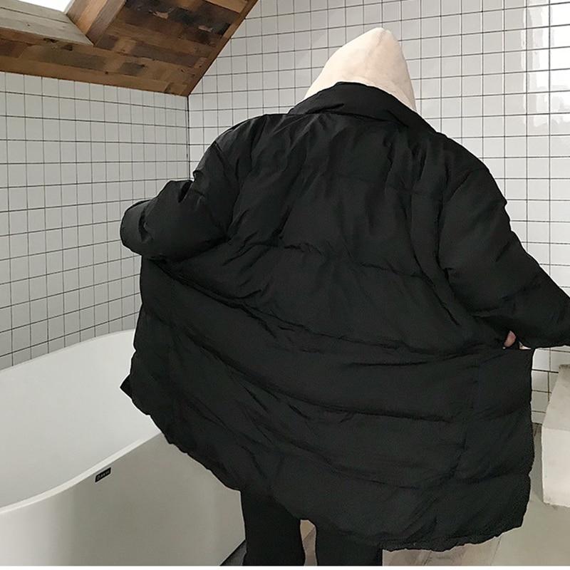 Lyh1971 Femmes De Mode Couleur Hiver black Épais Lâche Corée Complet Lyh1971 Collier Manches Beige hg Longues Stand Nouvelle 2018 Arrivée Solide Parka 5XqwUgU