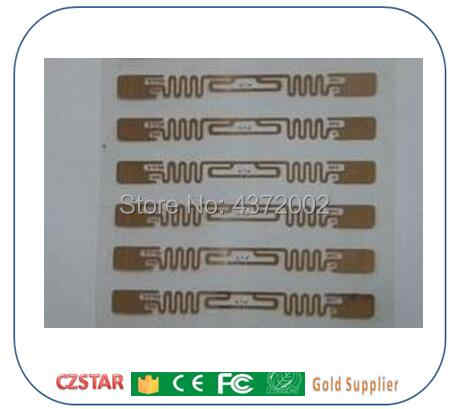 Ücretsiz kargo 10 adet ISO 18000-6C 915 mhz UHF RFID Etiketi alien 9662 H3 Chip Pasif RFID UHF yapışkan etiket okuyucu okuma Aralığı 1 m-15 m