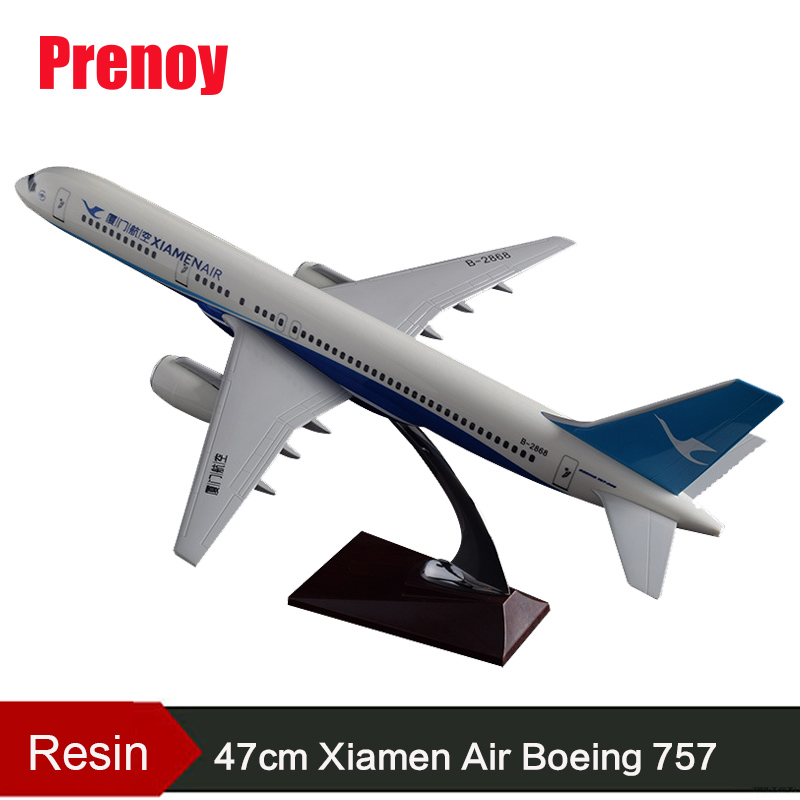 47cm B757 Aircraft Model China Xiamen Air Airplane Model Boeing 757 Airbus Airway Model Resin Xiamen Aviation Aircraft Model Toy 47cm shunfeng white boeing 757 resin sf express airlines airplane model b757 cargo airbus logistics airways aircraft plane model