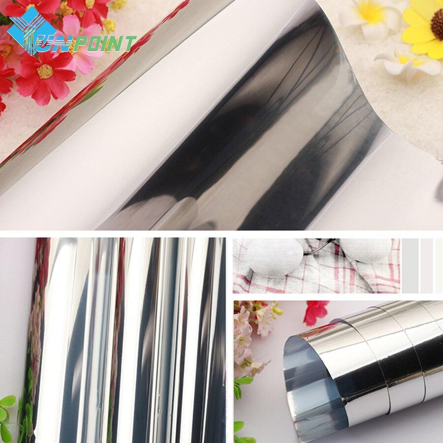 50cmX3m srebrno enosmerno odsevno ogledalo okensko folijo DIY - Dekor za dom - Fotografija 4