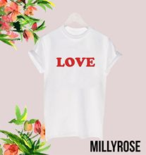 LOVE RED MENS WOMENS SLOGAN FUNNY GIFT MEME CELEB T SHIRT TEE TOP RETRO FRENCHFashion Design Free Shipping  Mens Shirts