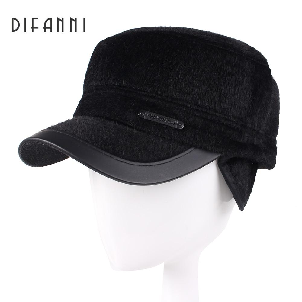 3a7f62573a29b Best buy Difanni 2017 Winter Dad Hat Baseball Cap Men High Quality Bone  Snapback Hats for Men Warm Caps with Ear Flaps online cheap