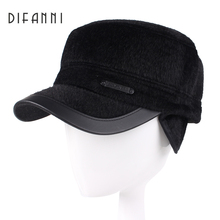Difanni 2017 Winter Dad Hat Baseball Cap Men High Quality Bone Snapback Hats for Men Warm Caps with Ear Flaps