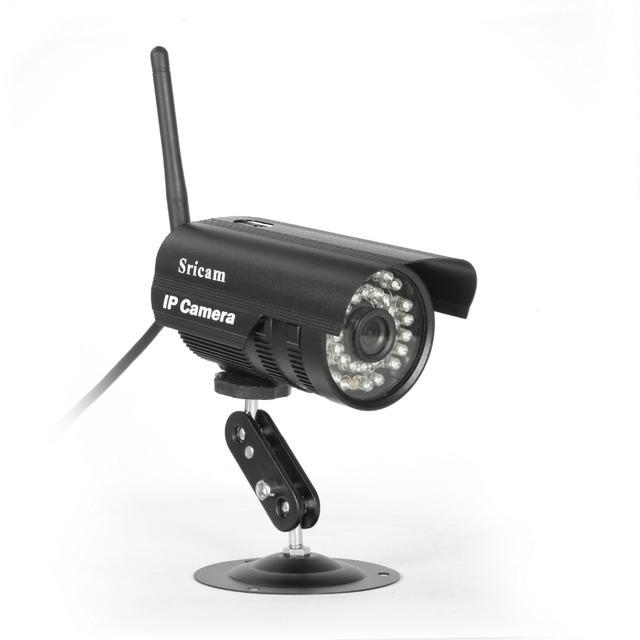 Sricam Wi-fi 1MP Câmera IP IR-Cut 720 P À Prova D' Água Câmera de Vigilância Ao Ar Livre Sem Fio/Com Fio Night Vision Onvif Detecção de movimento
