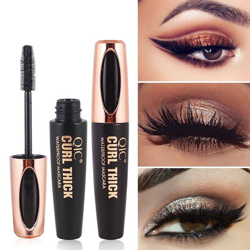 4D Silk Fiber Eyelash Mascara Waterproof Long Lasting Lash ...