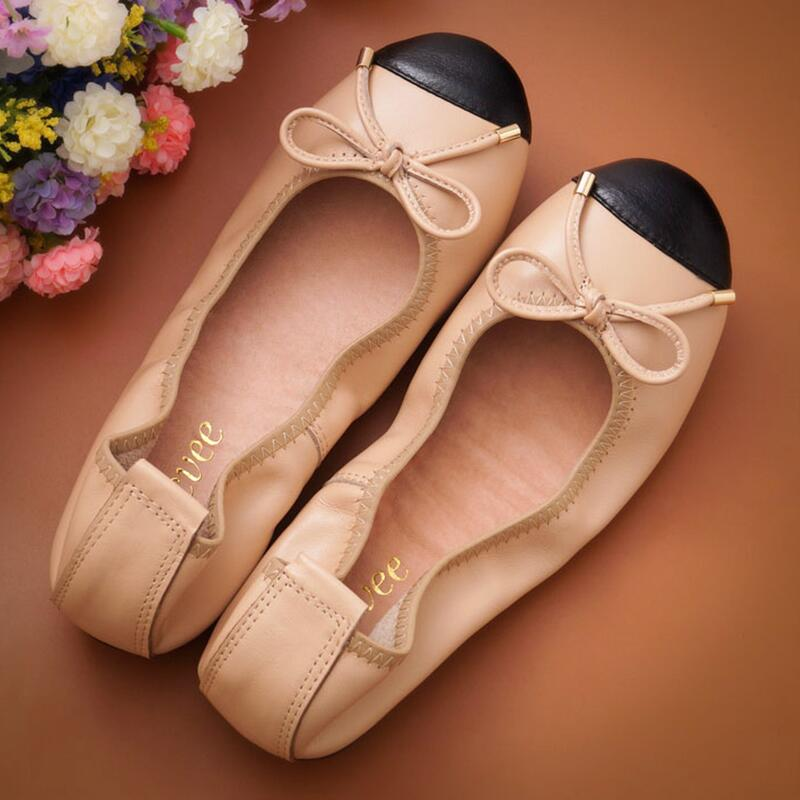 Bow Casual Shallow Mouth Single Shoes 2019 New Fashion Spring And Autumn Women s Flat Bottom