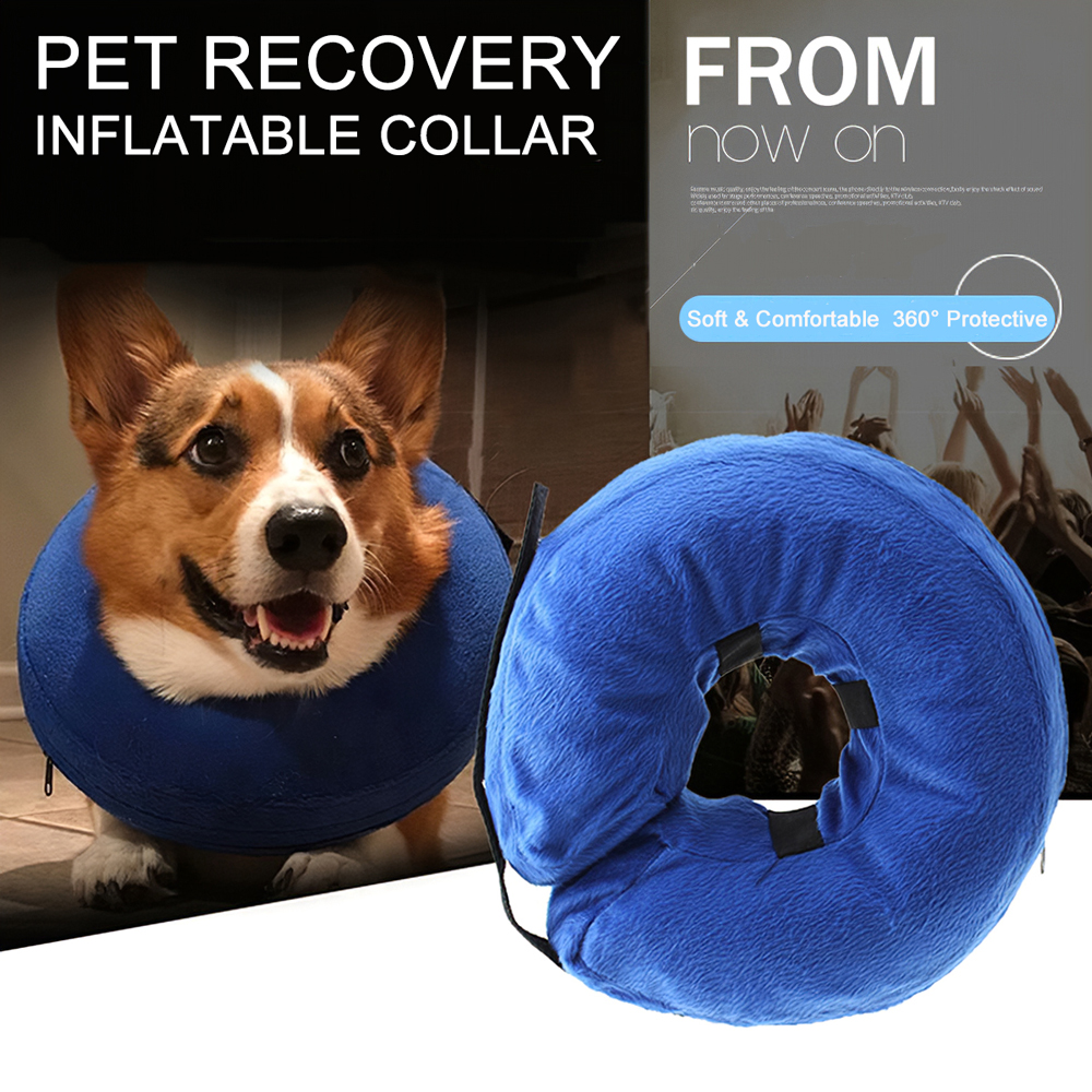 Pet Protective Collar Inflatable Dog Neck Recovery Collar For Anti-Bite Lick Surgery Wound Healing Cat Dog Health Medical Collar