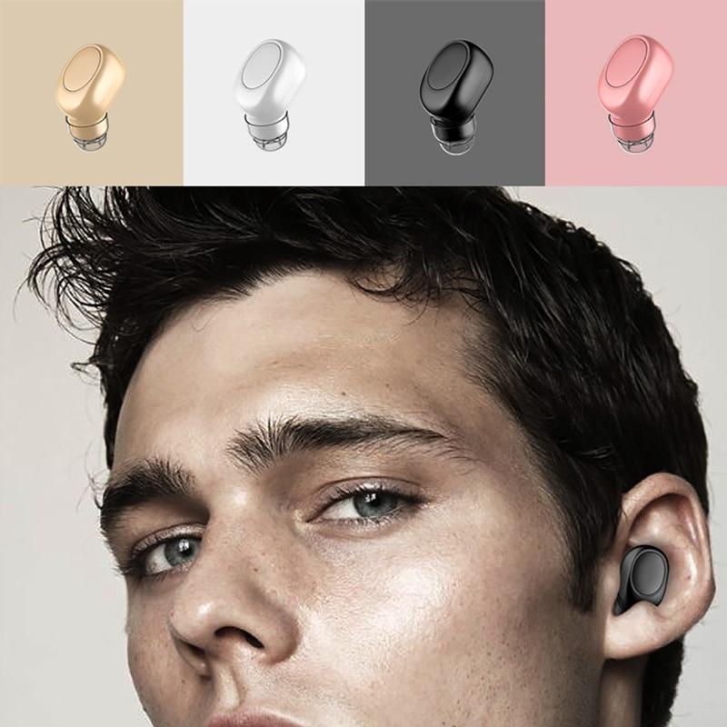 X12 In-Ear Wireless Bluetooth Earphone Invisible True Mini Earphones For IPhone 7 8 Xiaomi Huawei USB Magnetic Charging Headset
