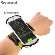 Sports Armband Case for iPhone X XS MAX 8 7 Plus Universal Rotatable Wrist Running Sport Arm Wristband Bag for 4-6.5 inch Phone rotatable running bag phone arm case waterproof armband sport wrist bag belt key holder pouch for samsung iphone 8 x 4 6 inch