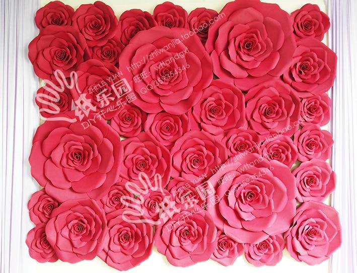 La boda de papel apoya las flores flor de la espuma, 37pcs / - Para fiestas y celebraciones