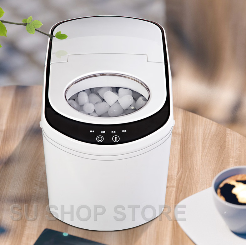 Commercial Automatic Ice Maker Electric Bullet Round Block Ice Cube Making Machine 15kg/24H Small Bar Coffee Teamilk Shop