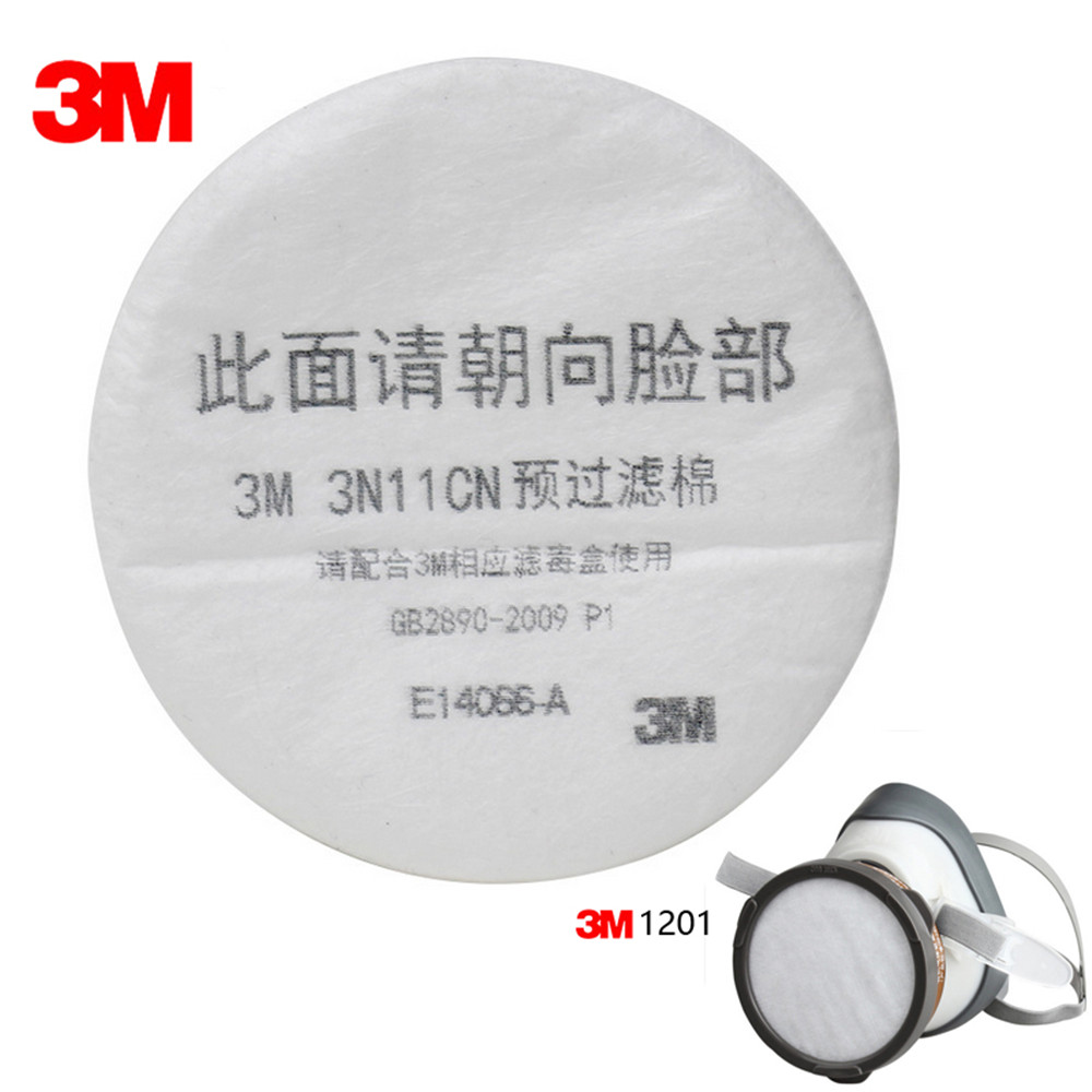10pcs 3M 3N11CN Filter Cotton 3M 3200 Gas Mask Supporting Dust Filter KN90 Anti Pollen Dust Anti Haze Industrial Construction 3m 7502 dust mask 2091 high efficiency filter cotton anti industrial conatruction dust pollen haze safety protective mask