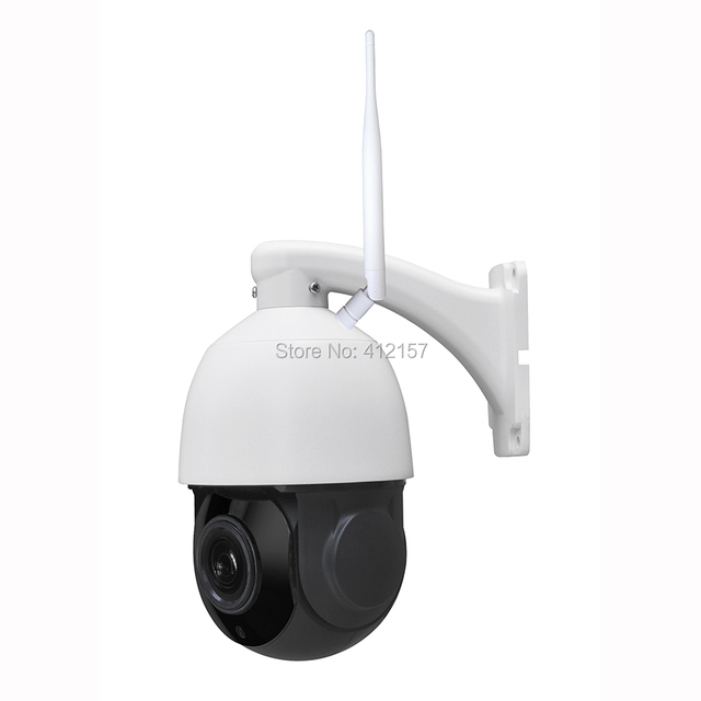 "Outdoor Security FULL HD 1080P Wireless IP Camera 2-Way Audio 2MP 4"" MINI WIFI Speed PTZ Camera 4X ZOOM P2P Mobile View SD Card"