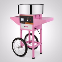 COTTON CANDY MACHINE + CART COMMERCIAL PINK FLOSS MAKER BARGAIN SALE FIRST CLASS